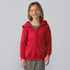 Heavy Blend youth full-zip hooded sweatshirt