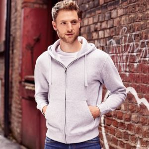 J266M Authentic zipped hooded sweat